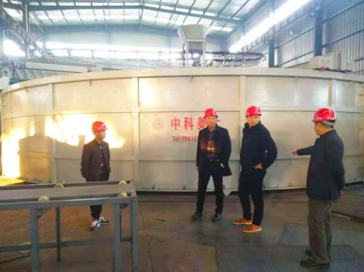 热烈欢迎温氏两湖片区周专员一行视察中科美大(宜昌)设备厂